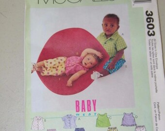 McCalls Baby Wear Top Shorts Capris Pattern 6303 13318 McCall's