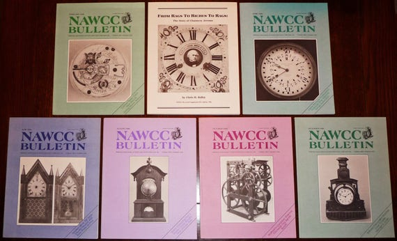 Bulletin of the National Association of Watch and Clock Collectors (NAWCC) 1986 Full Year + Supplement 15