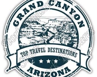Grand Canyon National Park Arizona Car Bumper Vinyl Sticker Decal