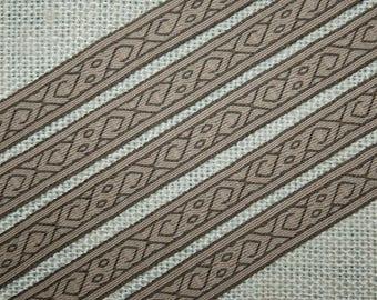 Tablet woven belt, trim, Chernigov wool