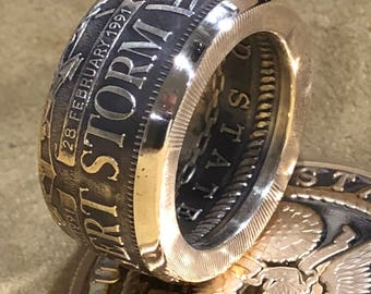 UNITED STATES Air Force USAF Operation Desert Storm Coin Ring