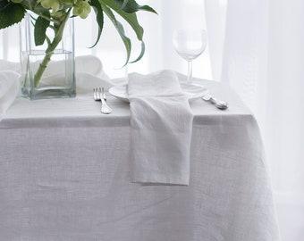 Natural Linen Tablecloth. Softened Linen Tablecloth. Linen Tablecloths. White tablecloth made from flax/linen.