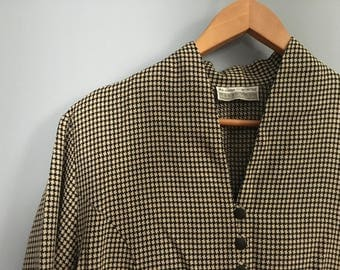 Vintage Checkered Overcoat