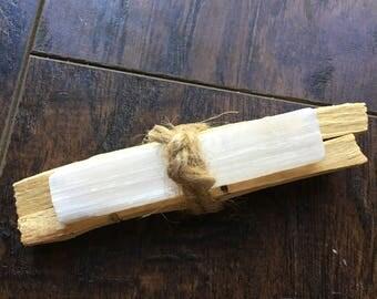 Palo Santo Wood and Selenite Bundle
