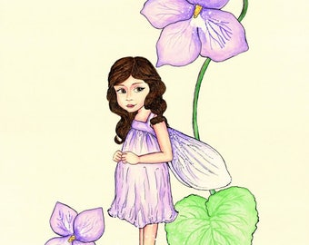 A4 Print ( Violet Fairy)