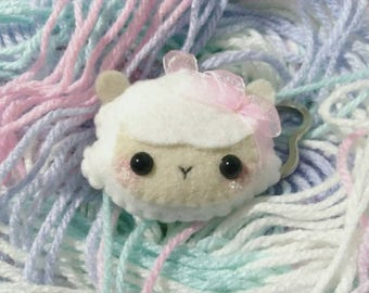 Kawaii Sheep Felt Keychain/Phone Strap
