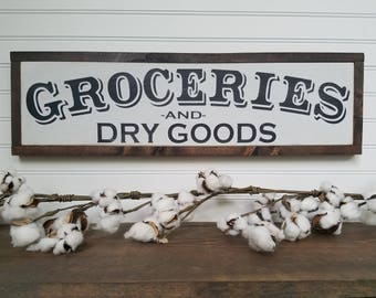 Groceries - Kitchen Signs - Kitchen Wall Decor - Farmhouse Style - Rustic Signs - Wood Signs - Wooden Signs - Farmhouse Signs