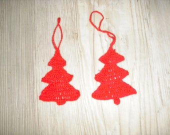 hanging red Christmas tree