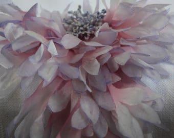 Lilac Silk chiffon vintage 50s applique,lilac antique garnish,Chiffon adornment,Silk antique trims,vintage millinery applique,lilac and pink