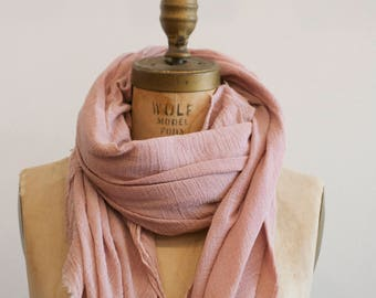 Lilac Raw Organic Cotton Scarf