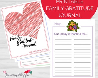 Gratitude Journal for Kids & Families ~ Monthly Themed Designs ~ Instant Download Printable