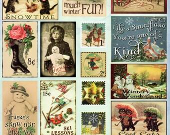 Winter Wonderland Heartwarming Vintage Cuts Crafty Secrets Scrapbook Embellishments Card Making