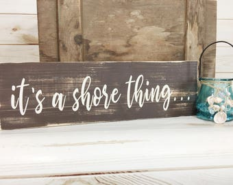 Rustic Beach Sign Wood Quote Plank Coastal Decor House