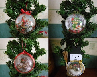 Choose ball Christmas tree, Santa Claus, snow snowman, Bell