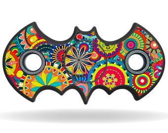 Flower Power - Fidget Spinner, Tri-Spinner, Fidget Spinner Decal, Fidget Spinner Sticker, Custom Fidget Spinner, Bat Shaped Spinner, Batman