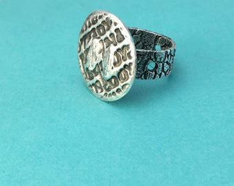 Fine Silver Organic Texture Ring