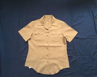 US Navy womens khaki  uniform shirt /top-