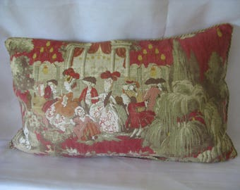 "Kids ""Anthoinette"" 39 x 64 printed linen cushion"