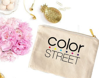 Color Street Cosmetic Bag - Coin Purse- Cute Makeup Pouch - Swag Bag - Color Street Gifts