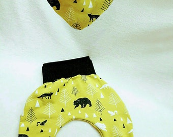 baby harem pants set scalable bandana