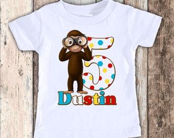 Birthday Monkey custom designed birthday t shirt tshirt personalized
