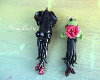 Black squid pendants