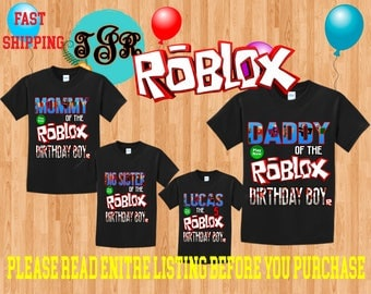 ROBLOX Boy birthday Family Black Theme Shirts Vacation Long Sleeve Short Sleeve Tank tops Toddler VIDEO GAME
