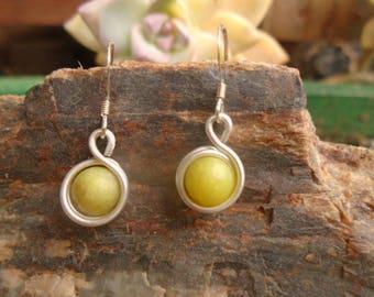 New Green Jade (Serpentine) Earrings Cleansing Love Protection