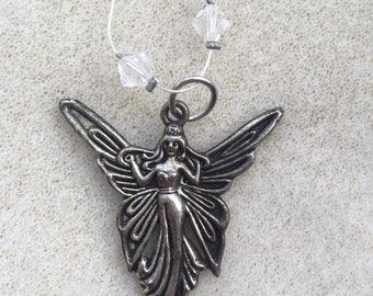 Crystal fairy pendant
