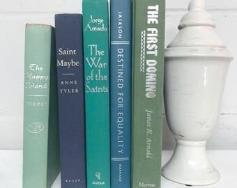 Green Blue Decorative Book Set