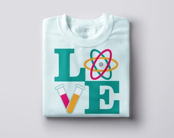 LOVE Science SVG File Cutting Template