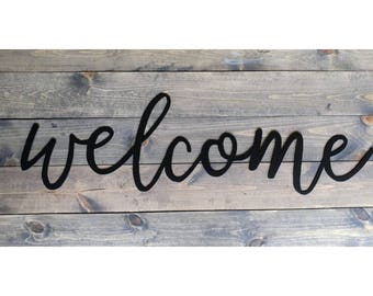 "Steel Cut ""Welcome"" Sign - THE Sanna"