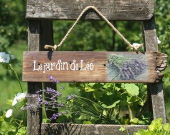 Le Jardin Wood Sign   French Garden   Rustic Garden Sign   Lavender Sign    Garden