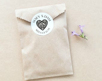 Seed Favour Bags - Personalised Favours, Custom Favours, Wedding Favours, Baby Shower Favours, Bomboniere, Bonbonniere, Party Favour x 20