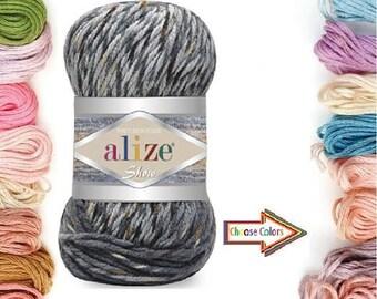 Alize Show Punto Batik, Knitting yarn, Winter yarn, acrylic yarn, batik yarn, multicolor yarn, crochet yarn, soft yarn, turkısh yarn, alize