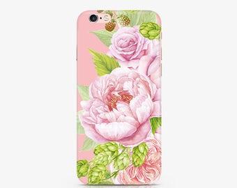 Roses iPhone 8 Case Floral iPhone 7 Phone Case iPhone X Case iPhone 7 Plus Phone Case Samsung Galaxy S8 Plus Case Samsung S6 Case AC1306