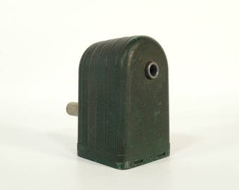 Vintage Pencil Sharpener / Mechanical Sharpener / Vintage Manual Sharpener / Hand Crank Pencil Sharpener / Vintage Office Decor