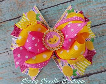 lemon birthday, Lemonade hair bow, Lemonade stand, Lemon hair bow, Lemon hair clip, Lemon clothes, Lemonade Birthday party, Summer hair bow