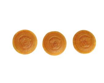 Set of 3 pcs Versace logo Medusa plastic buttons