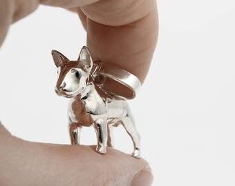 Vakkancs Bullterrier pendant (solid sterling silver, 3D)