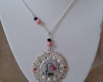 "pretty ""corset romantic rose"" necklace"
