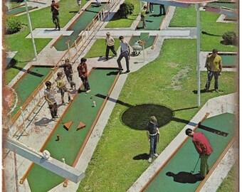"Putt Putt Wolrld mini golf Courses vintage ad 10"" x 7"" retro metal sign"