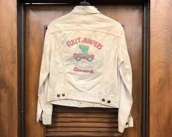 "Vintage 1960's Levis ""Gully Jumpers"" Car Club Denim Jacket"