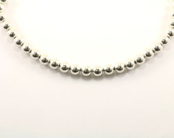 Vintage Beads Beaded Design Necklace 925 Sterling Silver NC 898