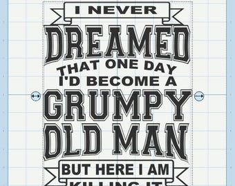 Grumpy old man svg