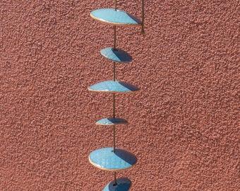Ceramic Windchimes - Approximately 2 1/2 Feet