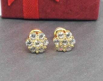 10k Cubic Zirconia Earrings
