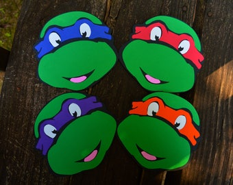4 Teenage Mutant Ninja Turtle Cut outs/cutouts/Decorations/Ideas/boys/photo booth/donatello/party/decor/photo props/items/diy/wall hanging