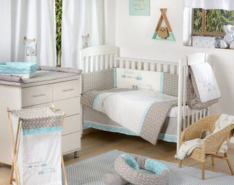 Dream Big Little One Blue Baby Crib Bedding Collection
