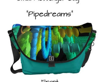 "Messenger Bag, handmade, Made in America! - ""Pipedreams"" - Great gift item!"